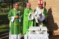 Bishop Peter Ingham installs Fr David as parish priest at Leppington - 2 August 2015